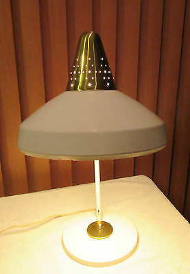 Vintage Large Swivelier White Desk Table Lamp Mid Century Modern