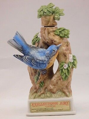 Bud Hastin Collectors Art: 1971 Porcelain Bird Cologne Container Blue Bird