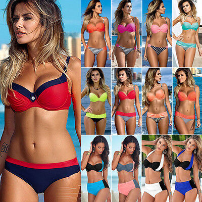 Women Push Up Bikini Set Bra Padded Swimwear Bandage Lady Swimsuit Bathing Suit