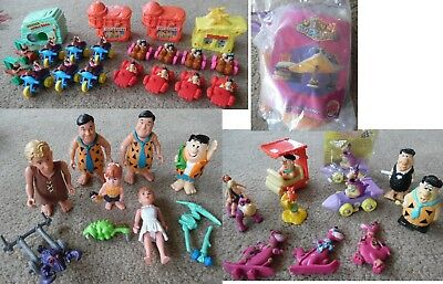 40 Flintstones Figures Collection Houses Cars Pvc Dino Viva Rock Vegas Movie Lot