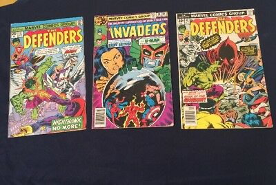 The Defenders #31,38,40 Fine Condition