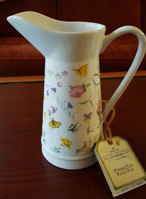 Hallmark Marjolein  Bastin  WILDFLOWER MEADOW 48 OUNCE Pitcher/Vase