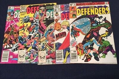 The Defenders #92,102,106,113&117 VF