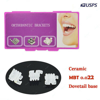 1pack Dental Orthodontic Ceramic Brackets MBT 022 Clear Braces 3,4,5 with hooks