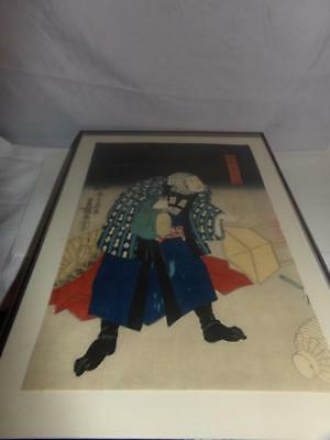 ANTIQUE JAPANSES WOODBLOCK PRINT-RICE PAPER-SIGNED-LADY-JAPANESE-PAINTING?10x12