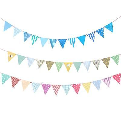 Paper Flag Bunting Birthday Baby Boy Shower Banner Garlands Party Decor 2018