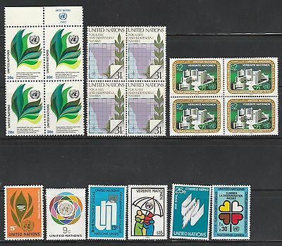 United Nation - Collection Of 18 High Values Mnh Stamps Free Shipping