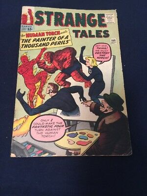 Strange Tales #108  Very Good Condition Fantastic Four Appear!
