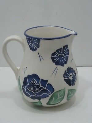 Dansk Made In Italy Blue Flora Pitcher 7.5''