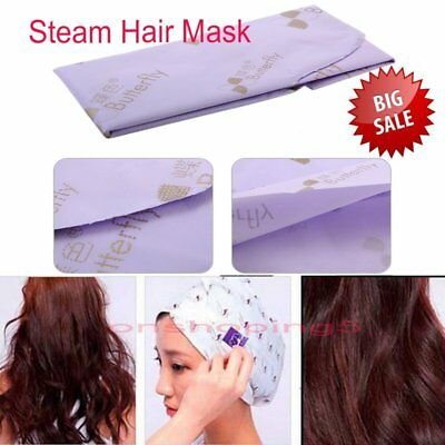 Heating Steam Hair Mask Keratin Argan Oil Treatment Hair Coarse Dry Split Ends O