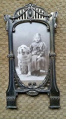 rare Victorian Carte de Viste CDV metal picture frame antique ornate gilt?