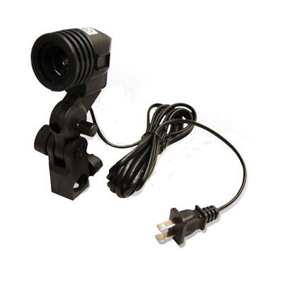 Photo Slave Flash Swivel Adapter Lamp Bulb Holder E27 Socket Umbrella Bracket US