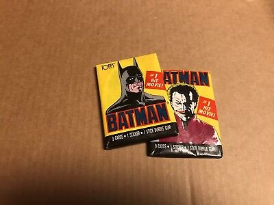2 Brand New Vintage 1989 Topps Batman Wax Packs