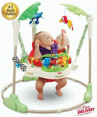 Baby Jumper Fisher Price Jumperoo Toy Fun Play Bounce Music Rainforest  Seat