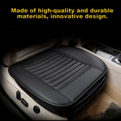Car Bamboo Charcoal Leather Seat Cushion Breathable Therapy Chair Cover Pad FK