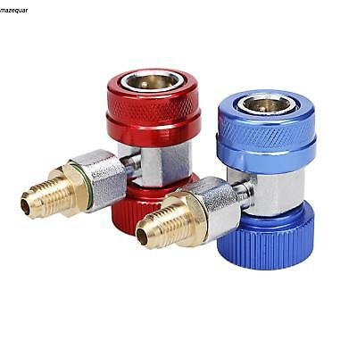 AC Quick Connector Adapter Coupler Auto A/C Manifold Gauge Low/High US MQR