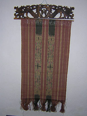 Ikat weberei, Wandbehang,two-panel seamed Pua,Collected from Borneo