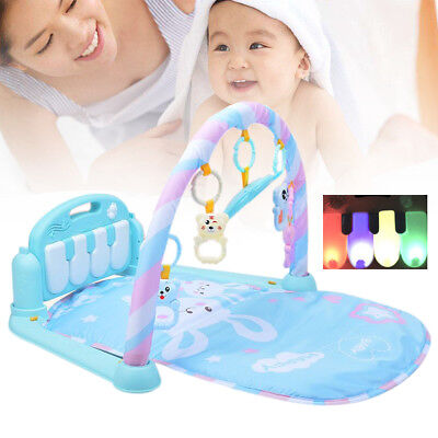 3-in-1 Baby Fitness Kick Play Musical Piano Gym Kids Activity Exercise Playmat