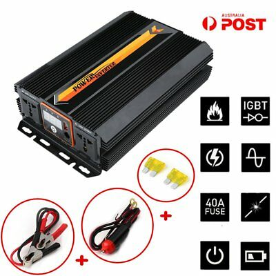 12V DC to 240V AC 2000W / 3000W Power Inverter Charger Converter LCD Display 1F