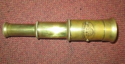 Antique Victorian Telescope Brass Spyglass Telescope Nautical Marine Spyglass!!!