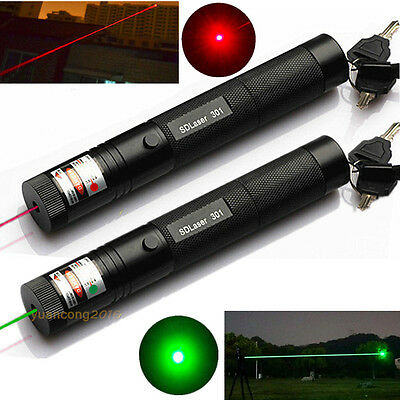 Powerful Laser Pointer Pen 301 Red + Green  1MW  Beam Military High Power