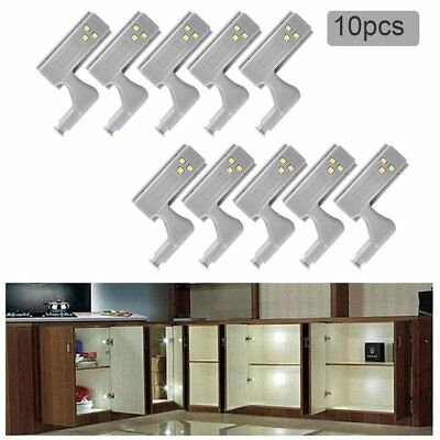 10pcs Cabinet Cupboard Closet Wardrobe Door Inner Hinge LED Sensor Lamp Light UA