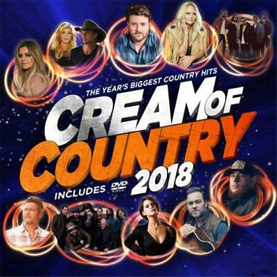 Cream Of Country 2018 Various Artists Cd & Dvd Region 0 Pal New
