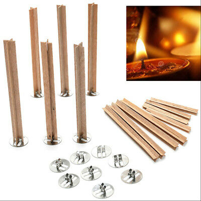 DIY Wooden Candle Wicks Core Multi Size Sustainer Making Supplies 80/130mm Set
