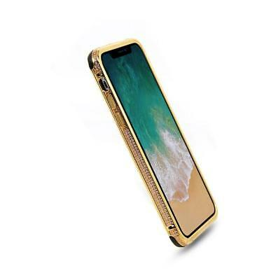 Limited Edition   24K Gold Plated Apple iPhone X Crystal Luxury Case