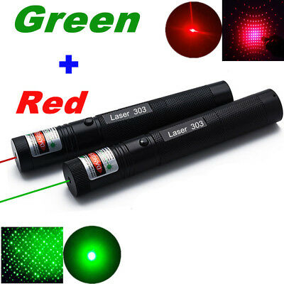 Powerful Military Laser Pointer Green&Red 1mW Laser Pointer 303 10 Miles Beam