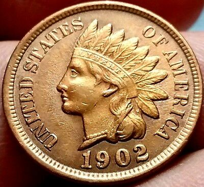 1902 Indian head One Cent Coin United States of America frankyd360 #ac520