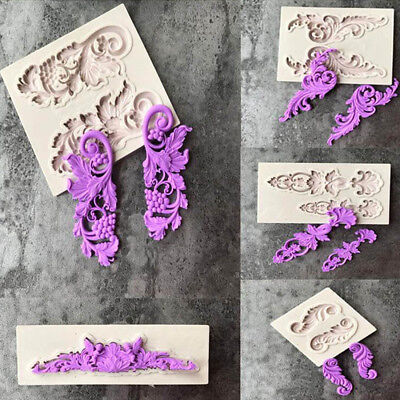 Silicone Fondant Mold Cake Border Decorating Sugarcraft European Relief Mould
