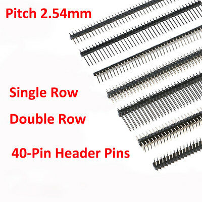 Straight/Right Angle/SMD 2.54mm PCB Jumper Connector 1X40 2X40 Male Pin Header