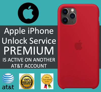 AT&T FACTORY UNLOCK SERVICE FOR ACTIVE ON ACCOUNT IPHONE XS XS Max XR X 8 7 SE 6