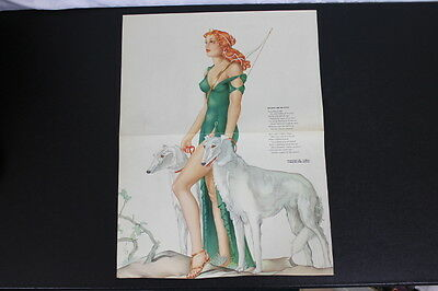 "Vintage Original Pinup Esquire Large Foldout VARGAS ""Hymn to Diana"""