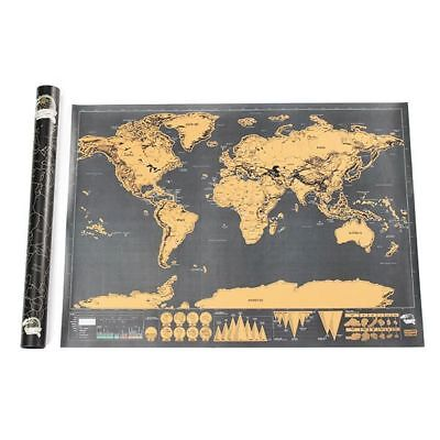 World Edition Scratch Map Travel Footprints Creative Gifts Custom Deluxe Black