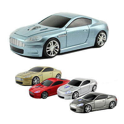 3D 2.4Ghz Wireless Aston Martin Car Mouse Optical USB Laptop PC Game Mice Led US
