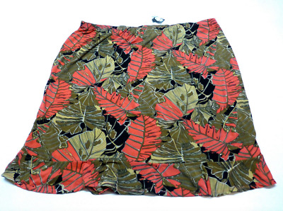 b485f6eb812 Jaclyn Smith Plus Size Womens 3X Tropical Floral Stretch Skirt New With Tags