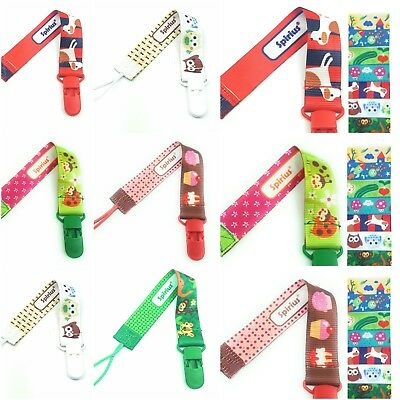Cute Spirius Baby Soother Holder/ Kids Pacifier Clip Dummy Clip Nipple