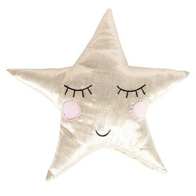 Sass & Belle Gold Shining Star Cushion Nursery Baby Gift Bnwt Childrens Room