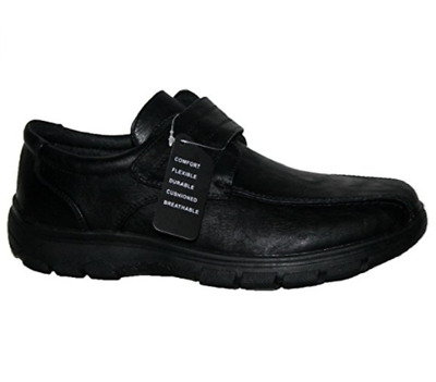 Mens Cushion Walk Lightweight Casual Shoes, Slip On And Touch Close Bar Strap