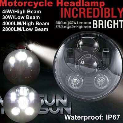 """5-3/4 5.75"""" 45W Daymaker Projector LED Headlight Harley Davidson Motorcycle 6F7"""
