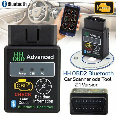 OBDII Scanner Code Reader Bluetooth CAN OBD2 Scan Tool for Torque Android 1F7