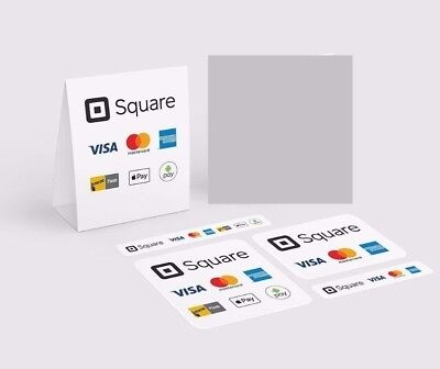 Square Credit Card Reader Business Decals/Logos - Sales Promotional Material