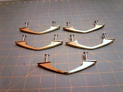 5 ATOMIC HANDLES MCM BRASS DRAWER VINTAGE 1950's Era