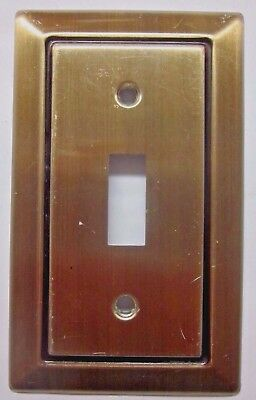 Vintage Retro Dark Satin Brass Aluminum Black Rectangle Switch Wall Plate Cover