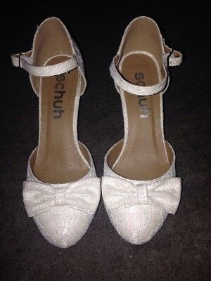 Schuh Wedding Shoes White Sparkly Pretty Size 4