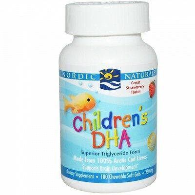 Children's DHA, Strawberry, 180 Chewable Soft Gels - Nordic Naturals