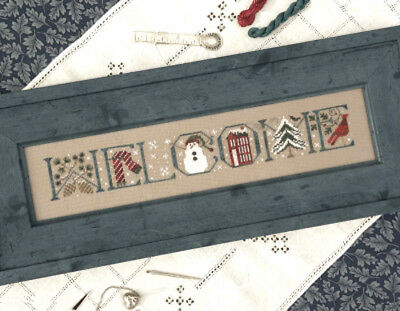 Welcome Winter Sampler The Drawn Thread Cross Stitch Pattern or Kit