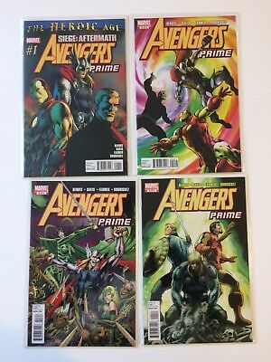 Near Complete Set Avengers Prime #1 2 3 4 Marvel Comics 2010 VF/NM